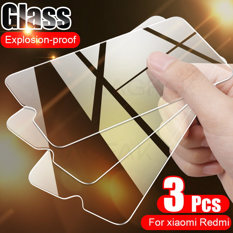 3PCS Full Cover Glass on the For Xiaomi Redmi note 7 8 9 5 pro Tempered Glass Redmi Note 8 pro 8T 7A 8A Screen Protector Glass(China)