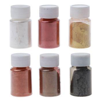 6 Color Metal Tones Mica Pearl Powder Pigment Kit Cosmetic Grade Metallic Dye WXTB