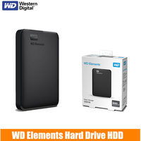 WD Elements 500GB Portable External Hard Drive Disk USB3.0 HD 1TB 2TB 4TB HDD Capacity SATA Storage Device for Computer PC PS4