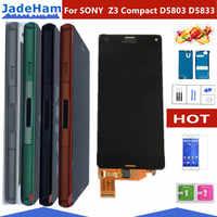 "ORIGINAL 4,6 ""LCD Für SONY Xperia Z3 Kompakte Display Touchscreen mit Rahmen Z3 Mini D5803 D5833 Für SONY xperia Z3 compact LCD"