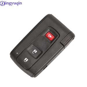 Image 3 - jingyuqin Good Quality 2/3 Buttons Remote Smart Car Key Case Cover  For Toyota Prius Corolla Verso Toy43 Uncut Blade