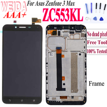 Original For ASUS Zenfone 3 Max ZC553KL LCD Display Touch Screen for ASUS Zenfone 3 Max ZC553KL X00DD LCD with Frame Free Tool asus zenfone 3 max zc553kl 32gb silver 4j027ru