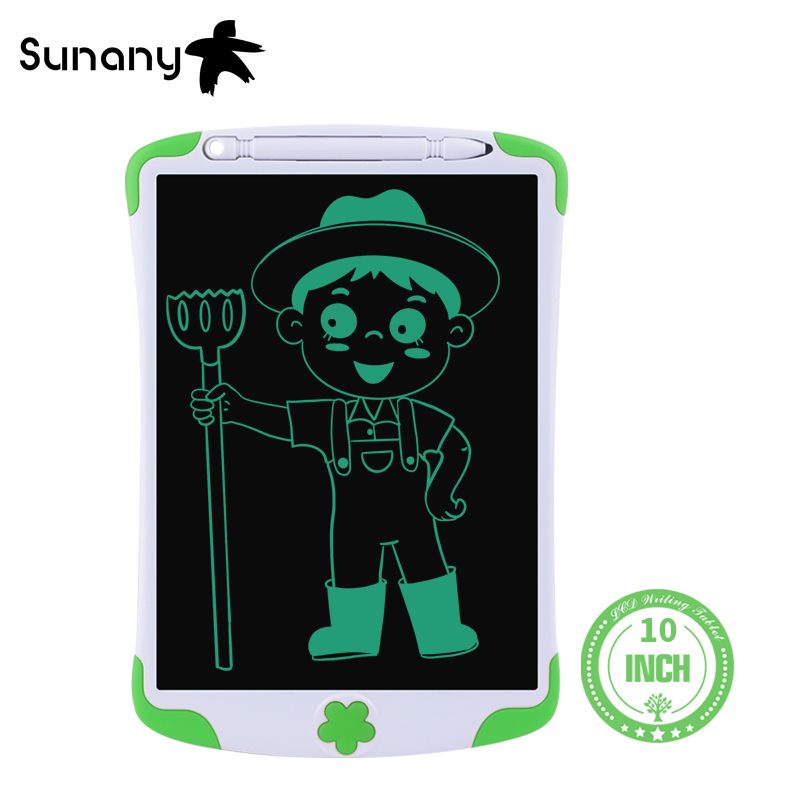 """Sunany 10"""" LCD Writing Tablet with pen ultra-thin Board Electronic Handwriting Pad Digital Drawing Children Gift graphic tablet"""