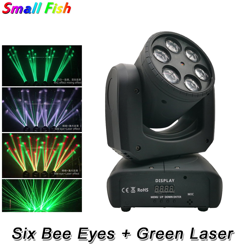 LED Six Bees Eyes 6X10W RGBW 4IN1 Moving Head Light DMX 512 Control Stage Effect Lighting For DJ Disco Party Dance Floor Clubs