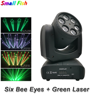 Image 1 - LED Six Bees Eyes 6X10W RGBW 4IN1 Moving Head Light DMX 512 Control Stage Effect Lighting For DJ Disco Party Dance Floor Clubs