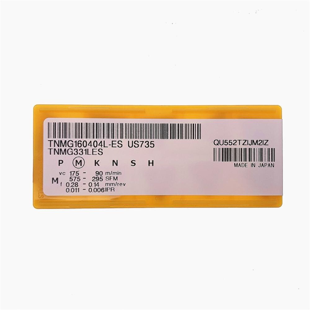 New MITSUBISHI TNMG160404L-ES US735 TNMG331LES Carbide Insert 10PCS//BOX