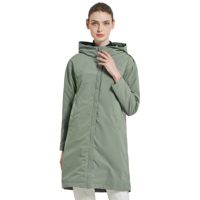 ICEbear 2019 autumn new ladies windbreaker loose fashion casual trench coat for women high quality brand coat GWF19001I icebear 2018 new autumn women coat cotton fashion ladies jacket high quality autumn jacket detachable hat brand coat gwc18038d