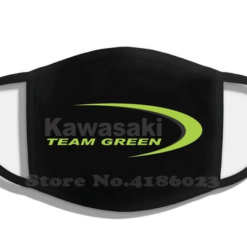 Logo, Team Green Printing Washable Breathable Reusable Cotton Mouth Mask Motorcycle Bikelife Racing Superbike Japanese Braap image
