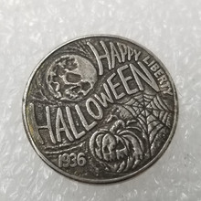 1936 Halloween 21mm US Hobo Morgan Skull Buffalo coins copy old for collection gift bedge 572