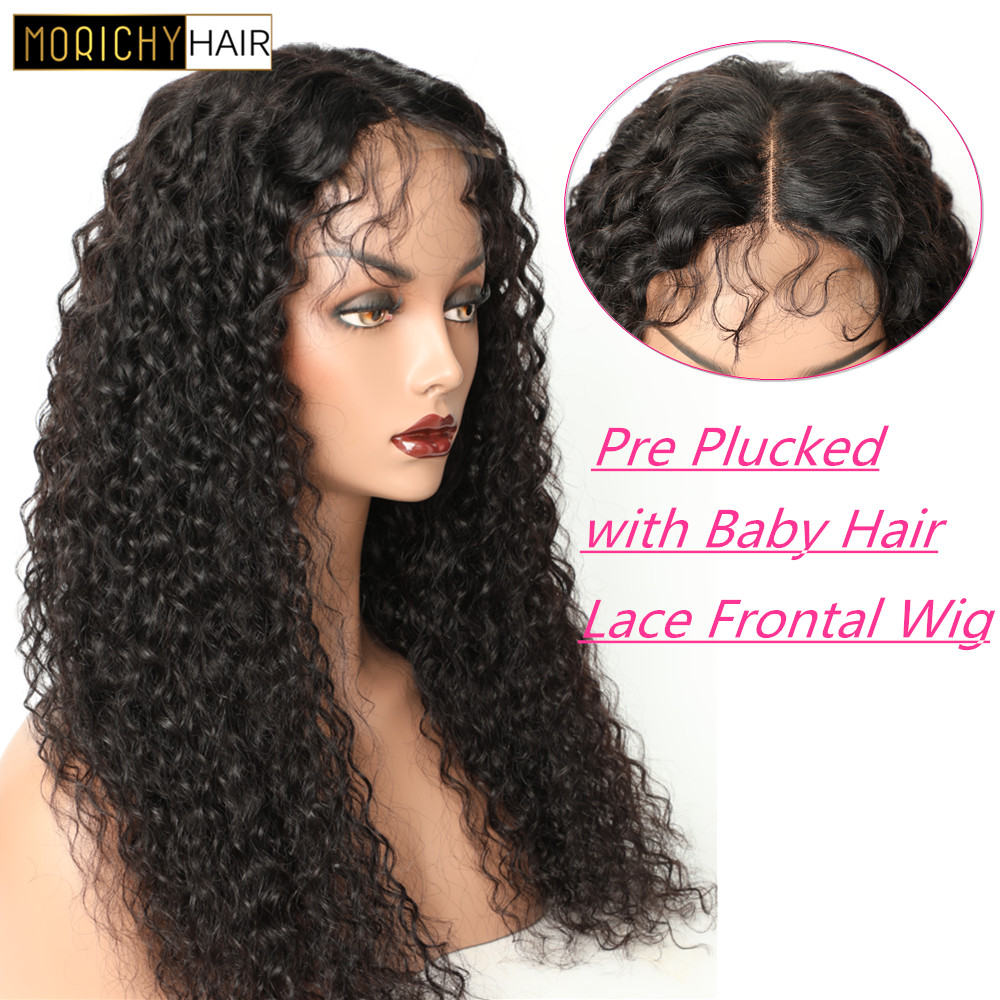 Curly Human Hair Wig Remy Hair Glueless 13X4 Lace Front Human Hair Wigs For Black Women Pre Plucked with Baby Hair 150 Density