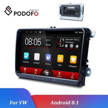 Podofo Android 8.1 Car Multimedia player 2Din Car Radios Autoradio For VW/Volkswagen/Skoda/Golf/Polo/Passat/b7/b6/SEAT/Tiguan image