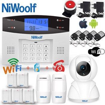 Sistema de alarma Wifi PSTN GSM Compatible con detectores inalámbricos/alámbricos de 433 MHz, Sensor de puerta, alarma, relé inteligente para el hogar, aplicación de salida de teléfono