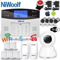 Wifi PSTN GSM système d'alarme Compatible avec 433MHz sans fil/filaire détecteurs capteur de porte alarme maison intelligente relais sortie téléphone APP