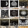 Mandala Tapestry White Black Sun And Moon Wall Hanging  Starry Night Sky Gift For Tapestries Hippie Wall Rugs Decor Blanket