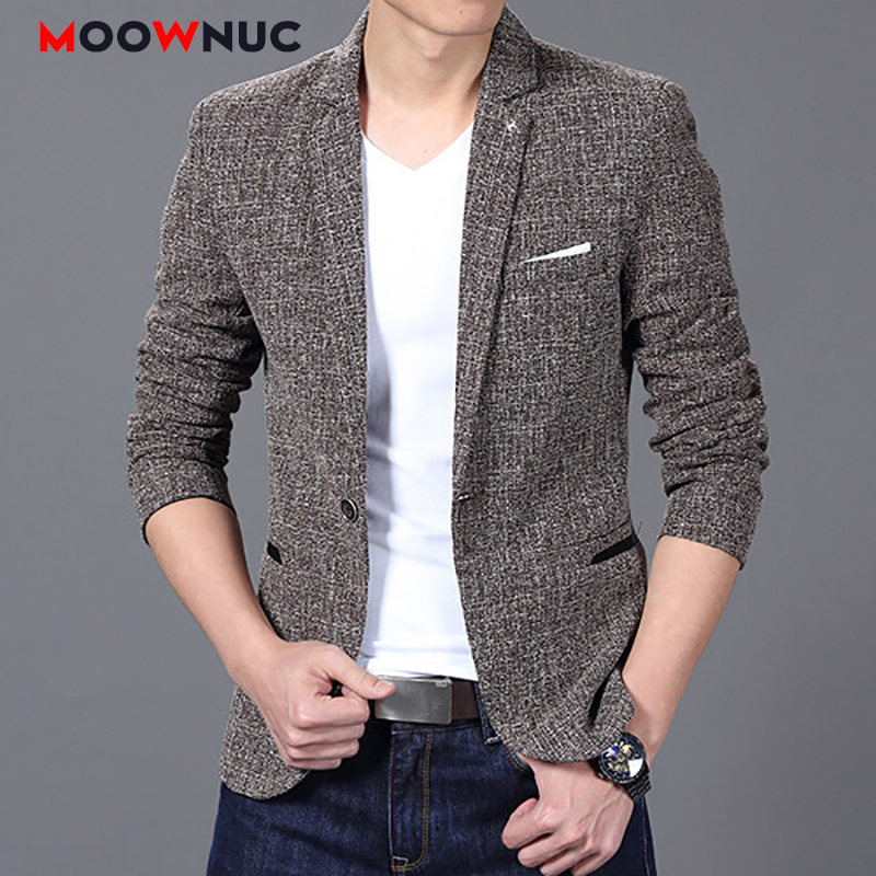 Men's Coats Autumn Jacket Masculino Blazers Men's Suit Jackets Hombre Solid Slim Fit Groom's Clothes Smart Casual Mens Clothes