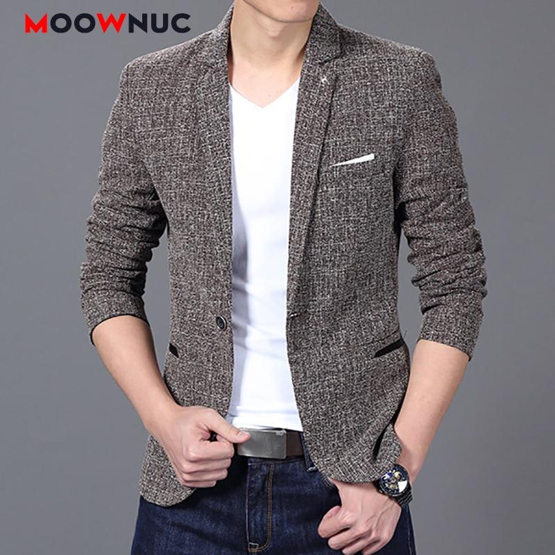 Men's Coats Autumn Jacket Masculino Blazers Men's Suit Jackets Hombre Solid Slim Fit Groom's Clothes Smart Casual Mens Clothes