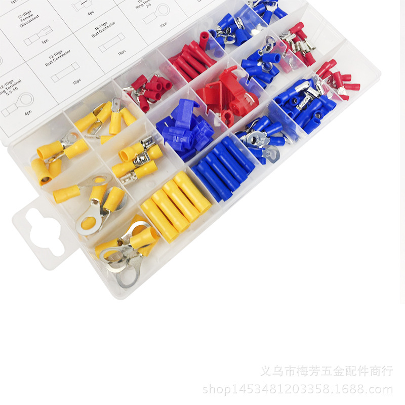Manufacturers Direct Selling 160 Pc Terminal Block/in Pick-up/Wiring/Cold Pressing/Pick up Closed Line/Wire Connector Set Specia image