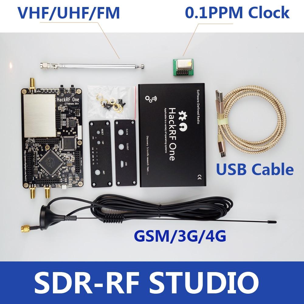 Платформа HackRF One usb для приема сигналов RTL SDR, программно определяемое радио, с частотой от 1 МГц до 6 ГГц, комплект демонстрационной платы, ключ...
