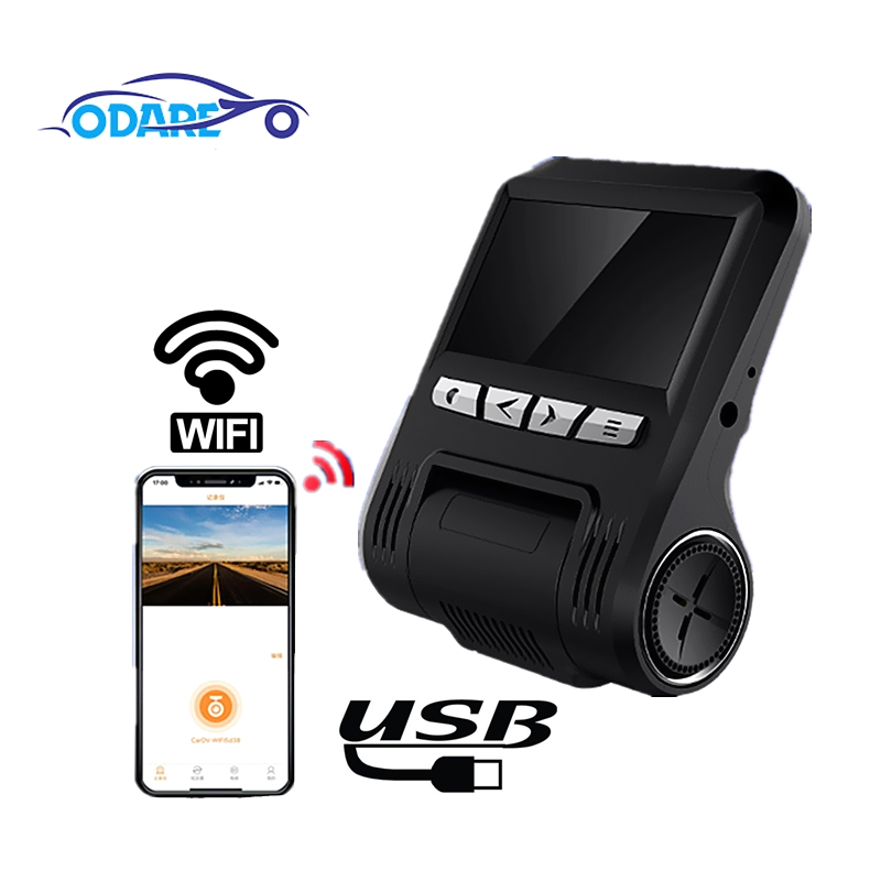 Odare Dashboard Camera Car Dvr Lcd-Video Dual-Lens WIFI Recroder-Camcorder Night-Vision