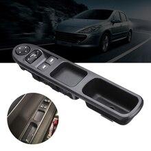 Кнопка системы подъема автомобильного стекла, Электрический главный водитель, боковой выключатель питания для Peugeot 307 2000-2005 96351622XT 6554.E4