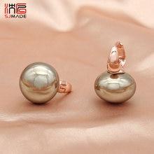 SHENJIANG 2021 Trend Big Simulation Pearl Dangle Earrings For Women Wedding Jewelry Christmas Gift Fashion Rose Gold Eardrop