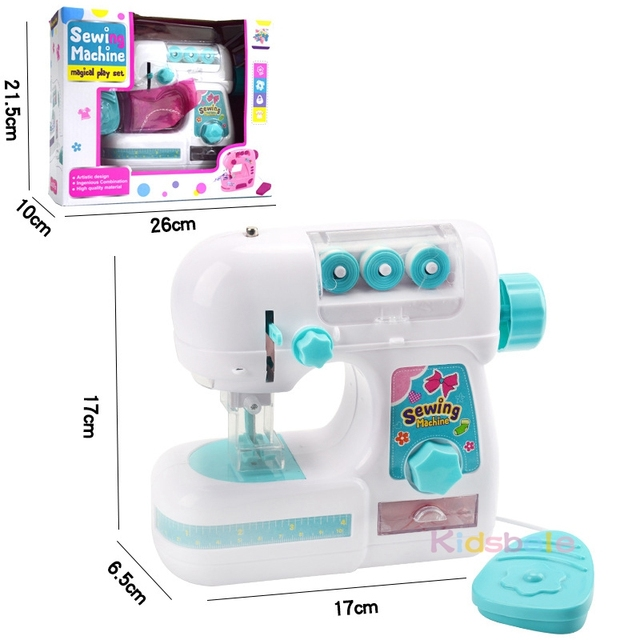 Kids Simulation Sewing Machine Toy Mini Furniture Toy Educational Learning Design Clothing Toys Creative Gifts For Girl Children