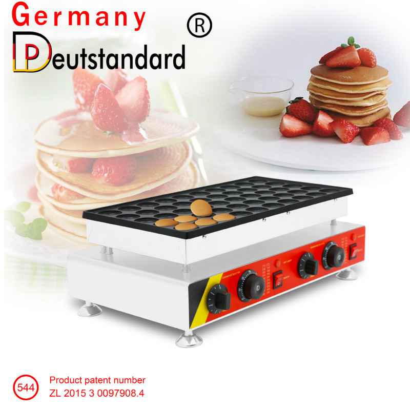 2019 50 Holes Sandwich Cake Commercial Biscuit Dutch Poffertjes Grills Mini Pancake Waffle Maker Baker Machine 220v/110v