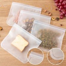 12PCS Reusable Frische Halten Tasche Silikon Tasche PEVA Lebensmittel Lagerung Tasche Container Geschlossen Tasche Frische Lebensmittel Lagerung Tasche Dicht heißer