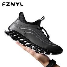 FZNYL Men Blade Shoes Outdoor Non-slip Damping Casual Sneakers PU Material Daily Walking Scarpa Comfortable Zapatos De Hombre