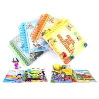 Miao tu 4d cartão ar early learning divertido conjunto manual armas arquitetura ferramentas de tráfego frutas e vegetais