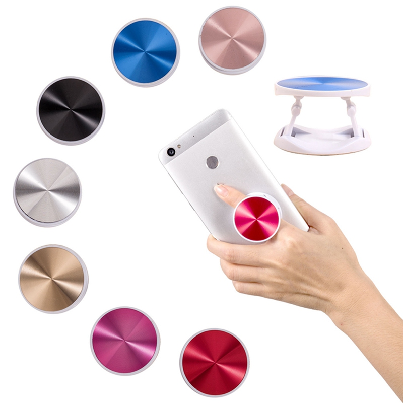 Original Metal Surface Expanding Phone Holder Universal Mobile Phone Finger Grip Holder Flexible Phone Stand For All Phone