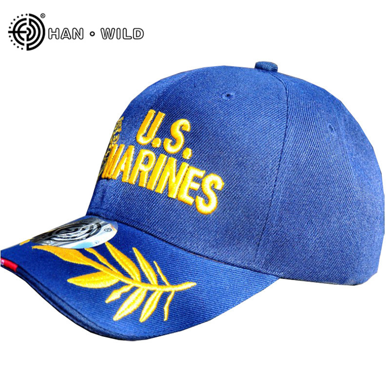 HAN WILD Outdoor Baseball Cap Military Cap Marine Cap Hunting Caps Tactical Hats Embroidered Adjustable Hats Gorra Hombre
