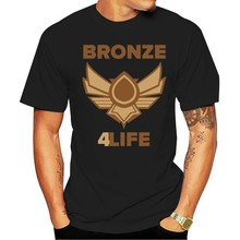 100% Cotton O-neck printed T-shirt Bronze V Bronze 5 for Life Noob League T-Shirt of Legends(China)