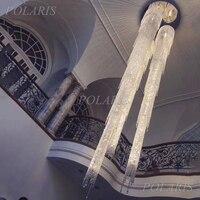 Moderno LED Piombo Lampadario di Cristallo di Illuminazione di Lusso Hotel Scala Grande Cristal Appendere Le Luci Soggiorno Sala da pranzo di Illuminazione
