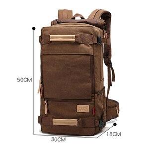 Image 5 - Magic union masculino mochila 20/22 polegada grande viagem mochila lona saco sling mochila caminhadas mochilas de acampamento para homens