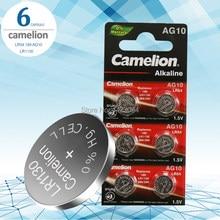Piles de pièces de monnaie de camisole 1.5V, 6 pièces/lot, AG10 LR1130, LR 1130, alcalines, AG10 389 LR54 SR54 SR1130W 189 LR1130, boutons