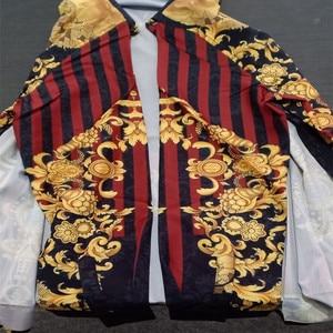 Image 4 - Chemise à manches longues pour hommes, de haute qualité, style ethnique, à la mode, chemise imprimée 3D, collection été décontracté