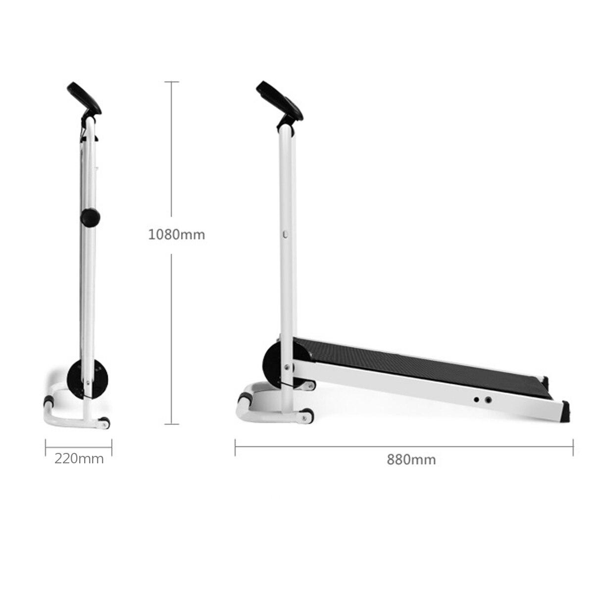 Tapis roulant pliable électrique LED affichage jogging espace marche Machine aérobie Sport Fitness équipement pas d'espace de plancher facile à déplacer - 5