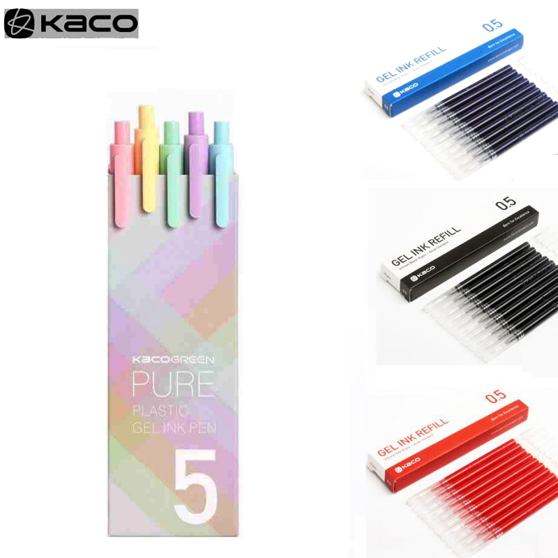 Black KACO Green Pure Plastic Gel Ink Pen