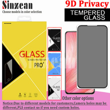 100pcs For Samsung A01/A11/A21/A31/A41/A51/A71/A81/A91/A10S/A02S/A21S/A71S 9D Full Glue Privacy Tempered Glass Screen Protector