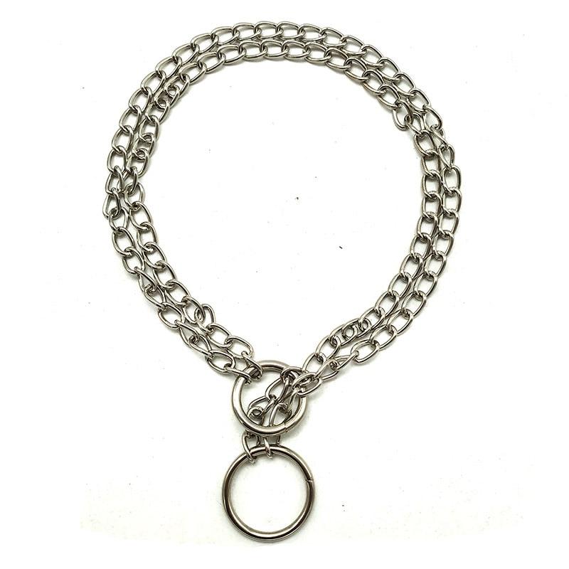 40cm Double Row Chain Pet Dog Collar Collar Snake Chain Decorative Chain VIP Teddy Collar Pet Supplies