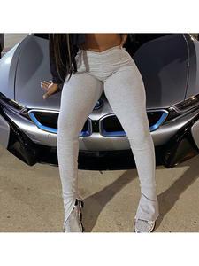 Stacked Leggings Trousers Joggers Women Femme