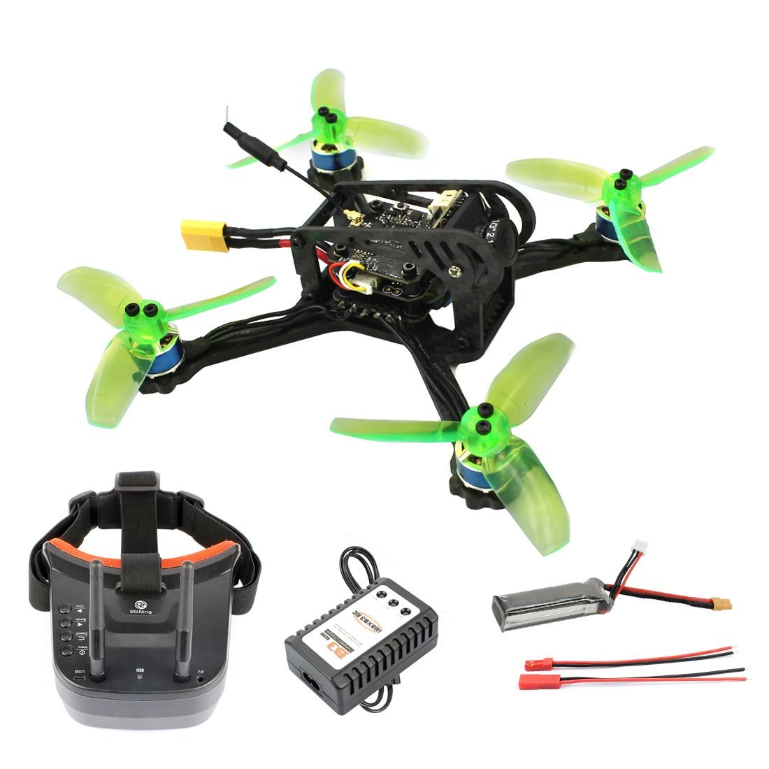 RTF FPV Racing Drone 135mm Mini F3 OSD 2S RC Quadcopter 10A 7500KV Brushless 2.4G 6ch BNF RTF Combo Set 1200TVL HD Camera