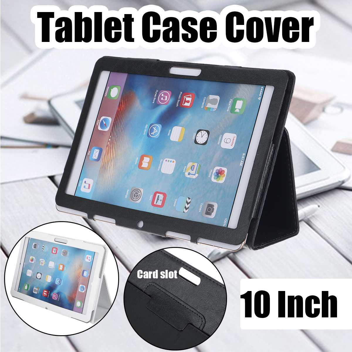Tablet Case For 10 Inch Tablet Universal Leather Case Stand Case For Android Tablet PC Protective Cover