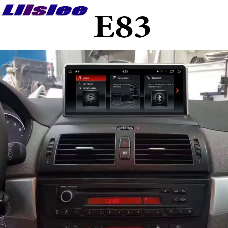 For BMW X3 E83 2003~2010 <font><b>Android</b></font> 9 4G RAM LiisLee <font><b>Car</b></font> Multimedia GPS <font><b>Audio</b></font> CarPlay Radio Stereo For CIC EVO ID7 Navigation NAVI image