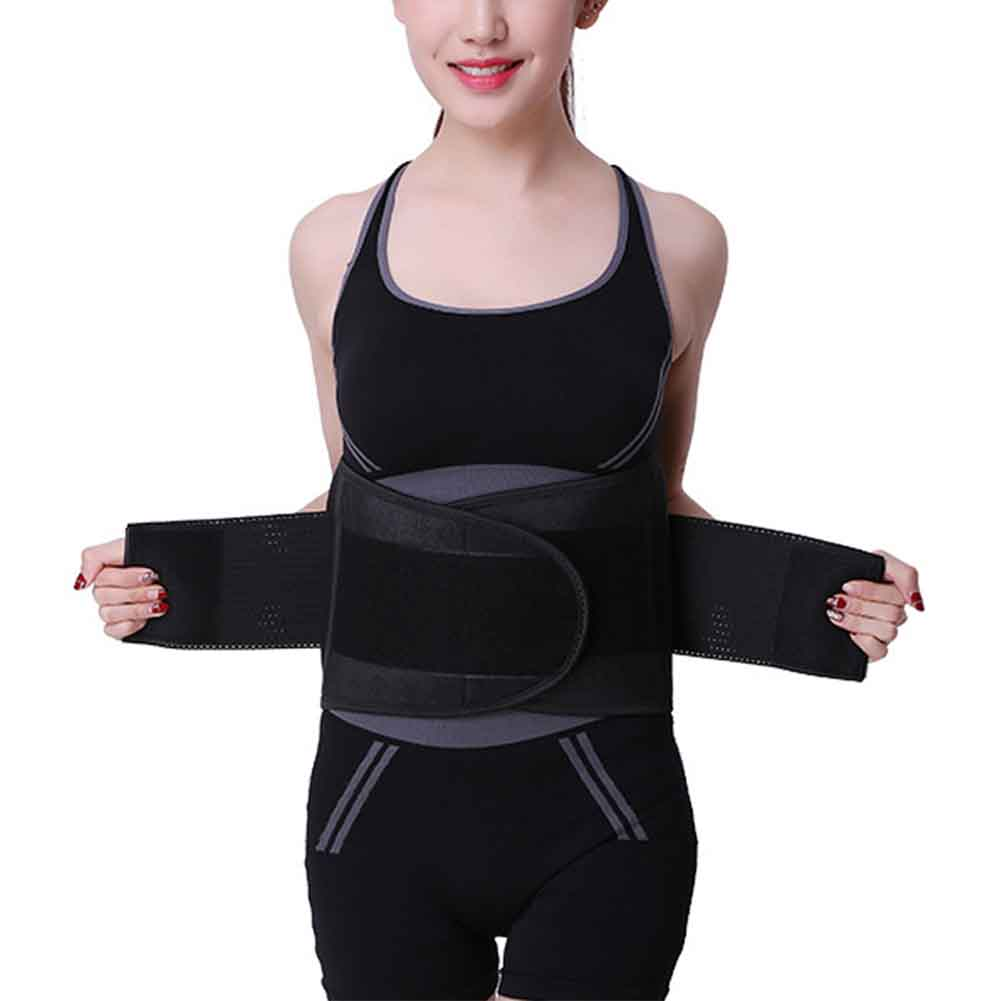 Women Men Training Gym Workout Body Shaper Waist Trimmer Easy Wear Adjustable Slimming Sweat Wrap Weight Loss Back Supporting