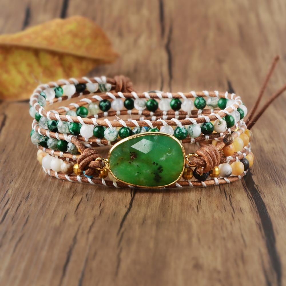 Wrap Bracelet Natural Stone