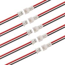 20/10/5/2/1 par jst fio cabo conector jst 1.25mm 2 pinos micro macho fêmea conector jack plug conectores 15cm fios