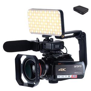 Ordro Professional Camcorder Camera Optical-Zoom Youtube 4K AC5 Vlog Filmadora 12X