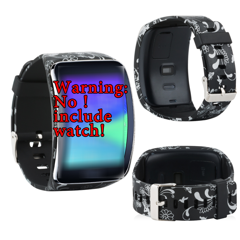 For Samsung Galaxy Gear S R750/GEAR MR-750 Replacement Band SmartBracelet TPU Soft Smartwatch Band Style With Metal Buckle